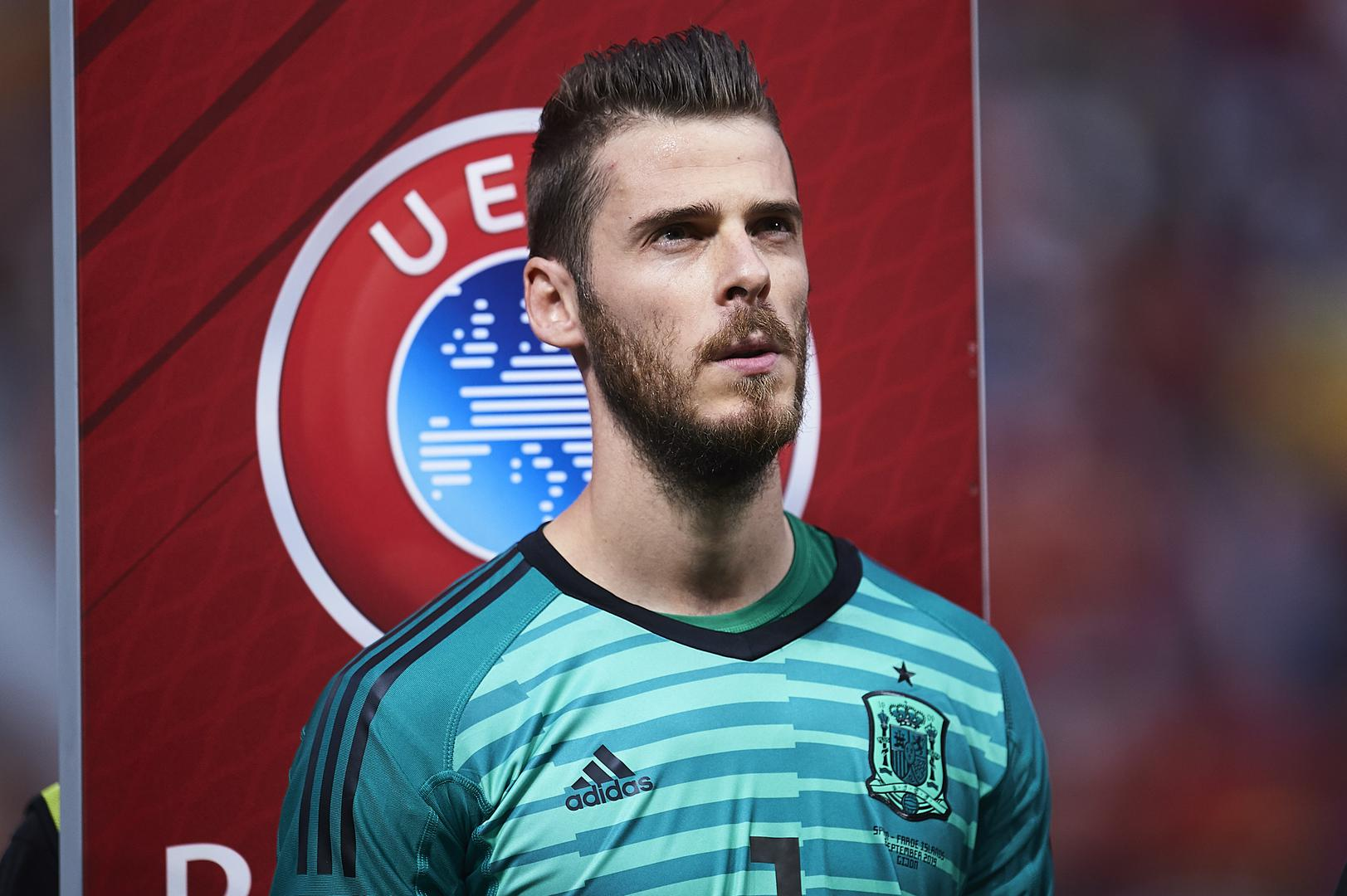 David De Gea on international duty for Spain