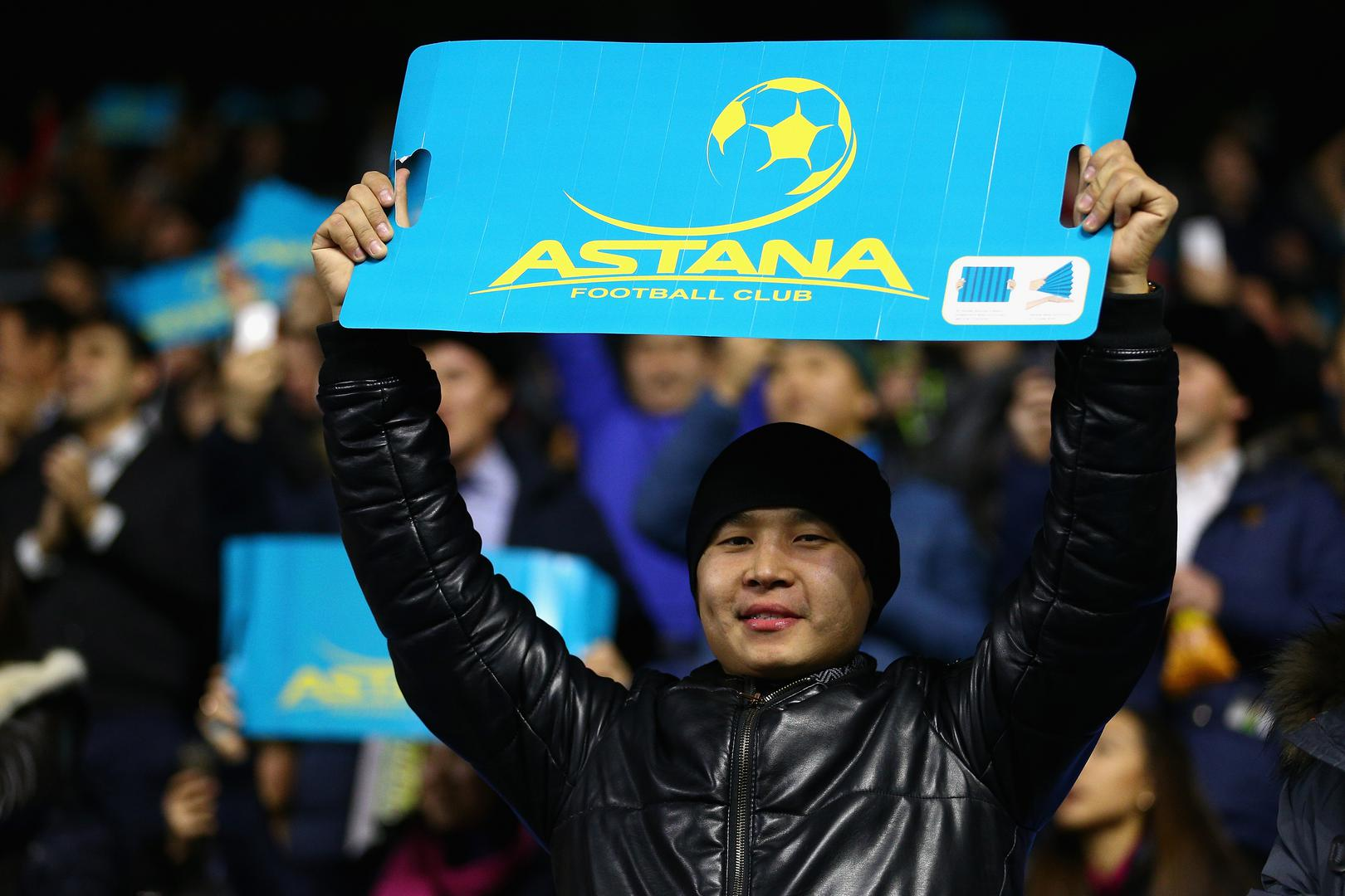 Fan at the Astana Arena,