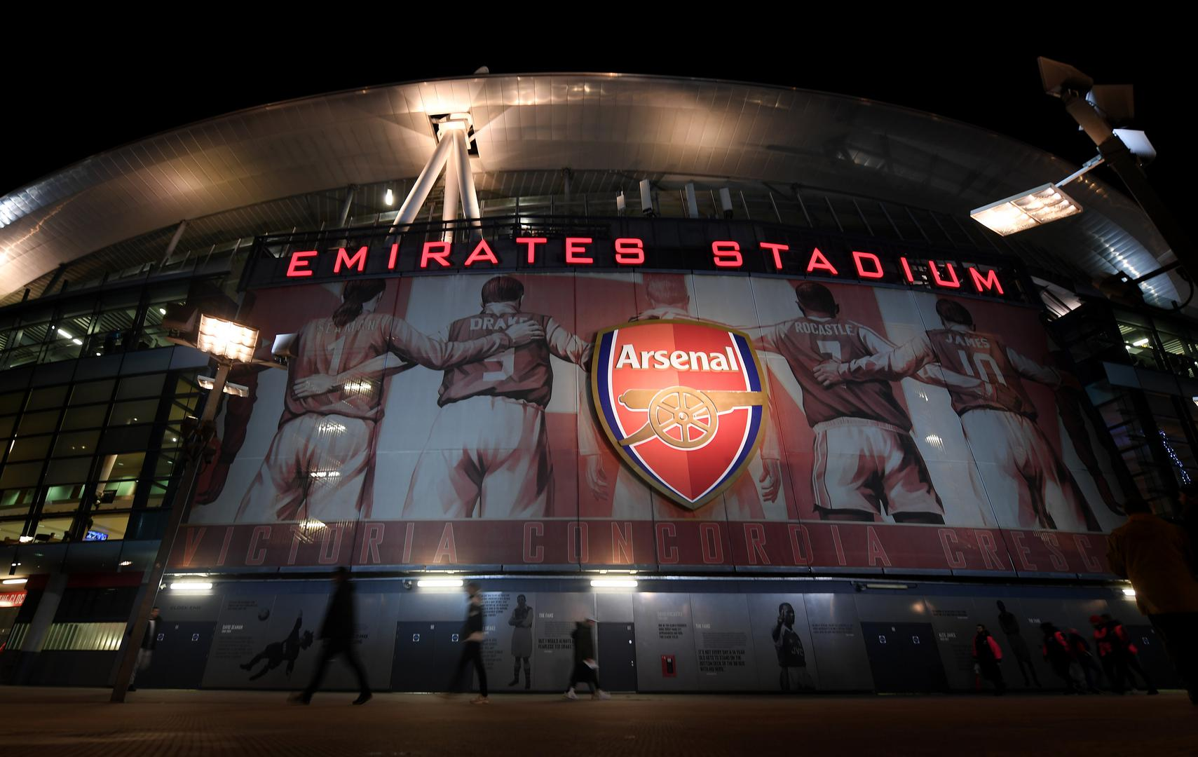 General view outside Emirates Stadium.