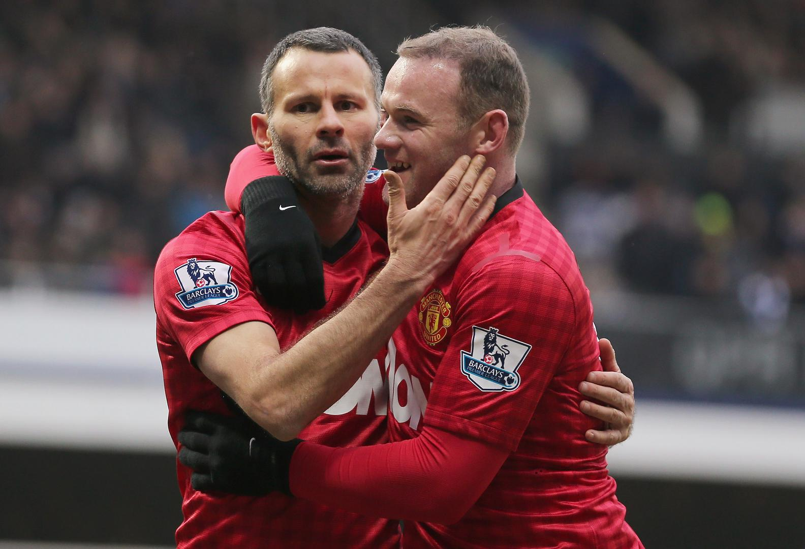 Ryan Giggs and Wayne Rooney.
