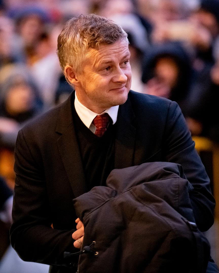 Ole Gunnar Solskjaer arrives at Molineux
