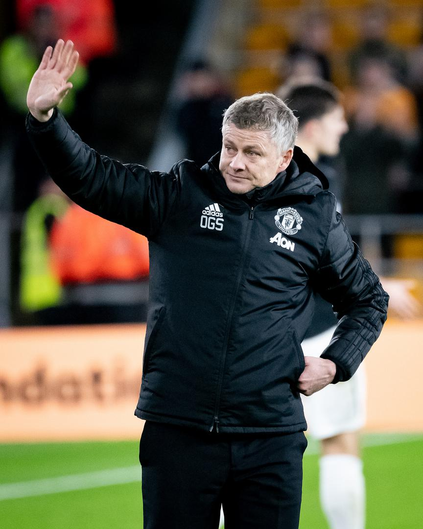 Ole Gunnar 。。Solskjaer after Manchester United's 0-0 draw with Wolverhampton Wanderers on Saturday.