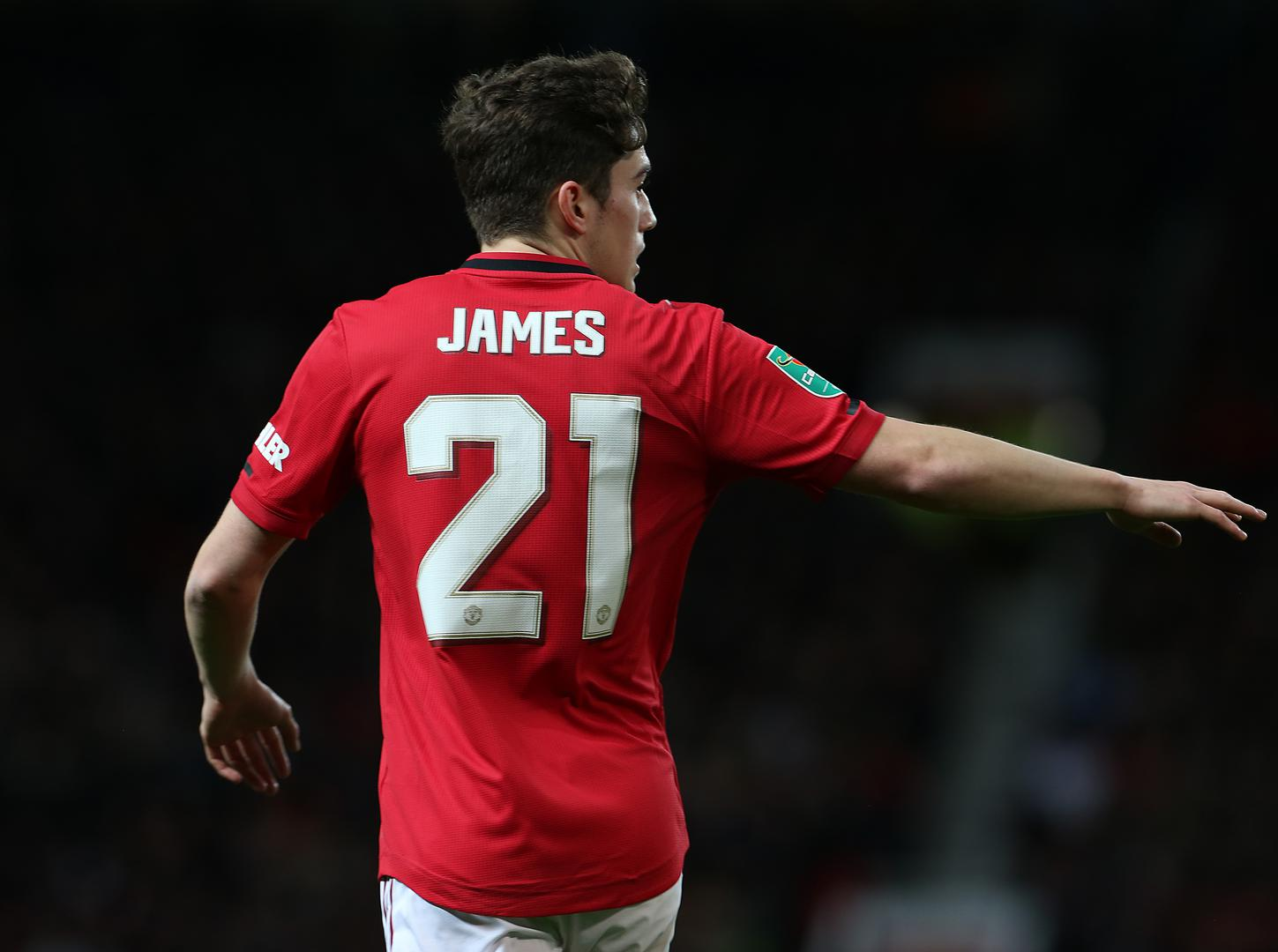Daniel James - Man Utd's no.21.