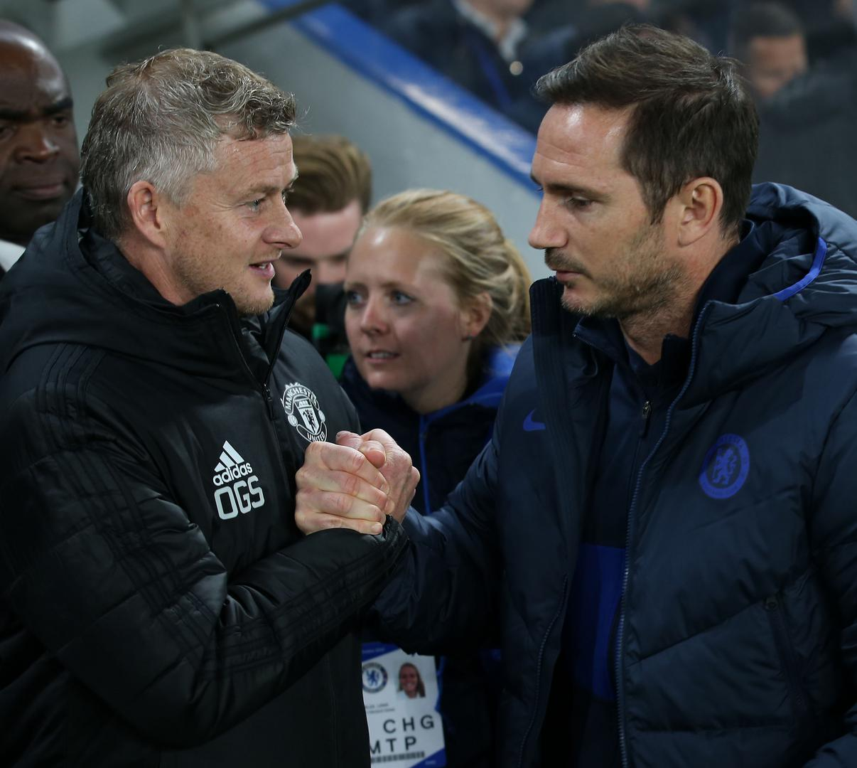 Ole Gunnar Solskjaer and Frank Lampard.