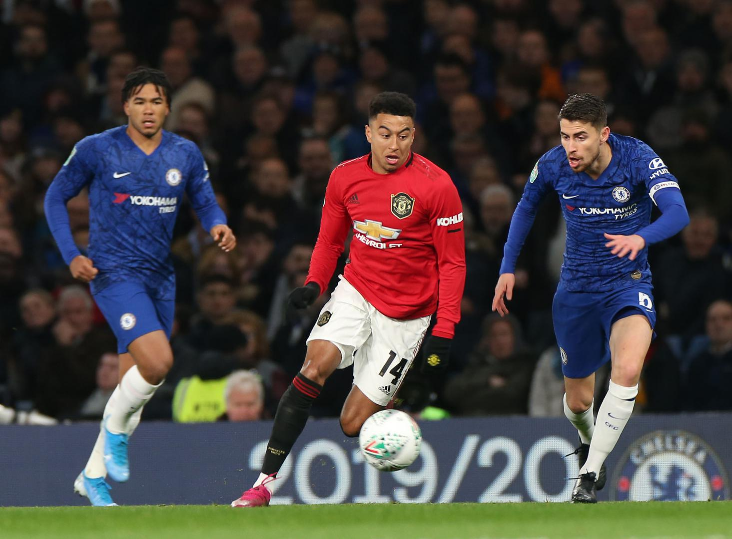 Jesse Lingard in action against Chelsea..