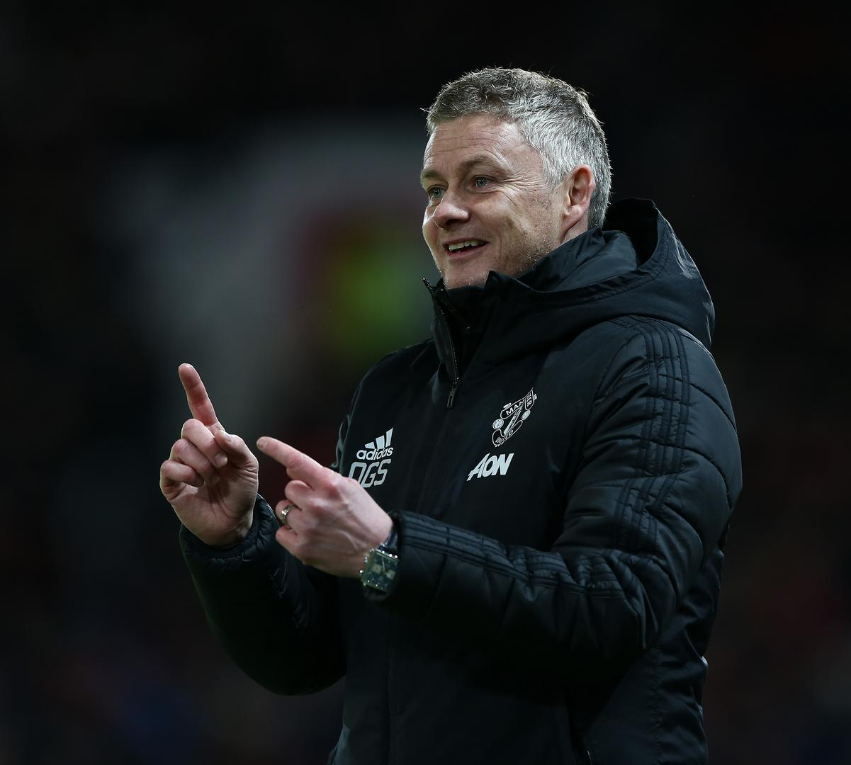 Ole Gunnar Solskjaer pictured during Manchester United match.