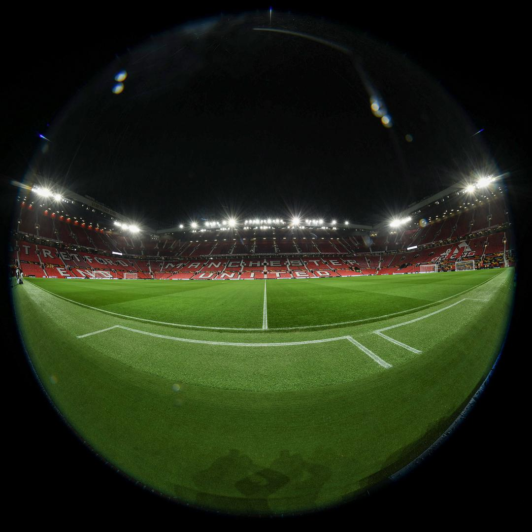 An interior view of Old Trafford.