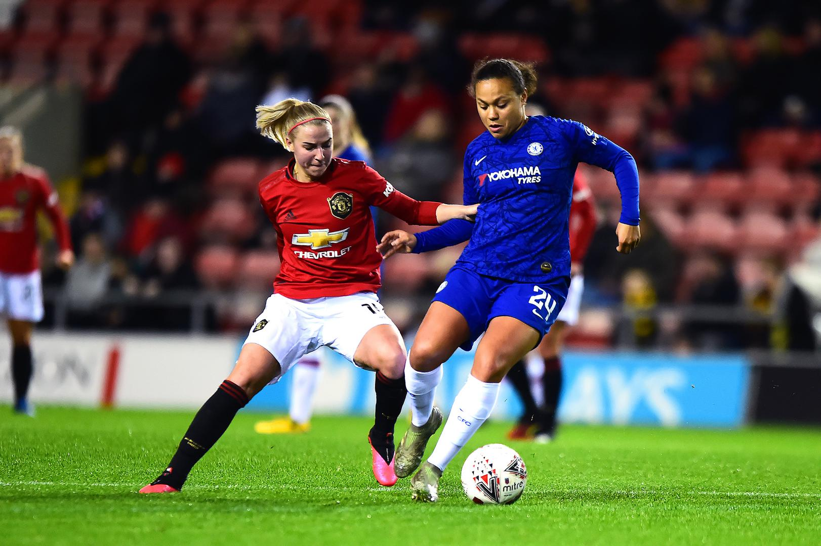Jackie Groenen in action against Chelsea Women