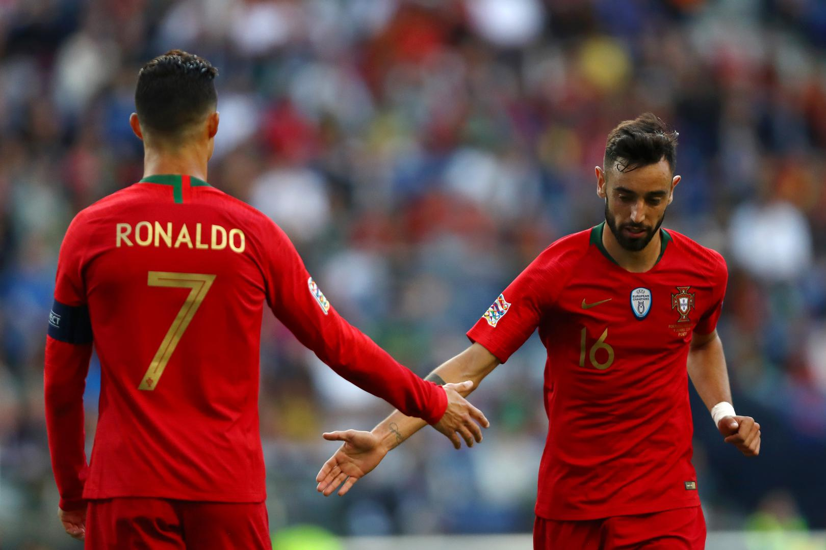 Cristiano Ronaldo and Bruno Fernandes
