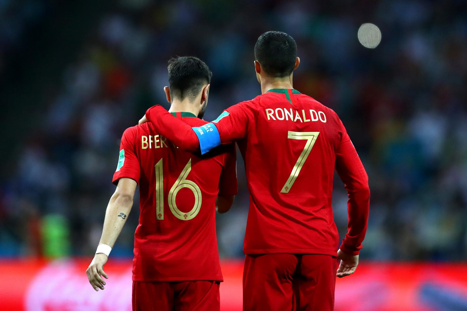 Bruno Fernandes and Cristiano Ronaldo.