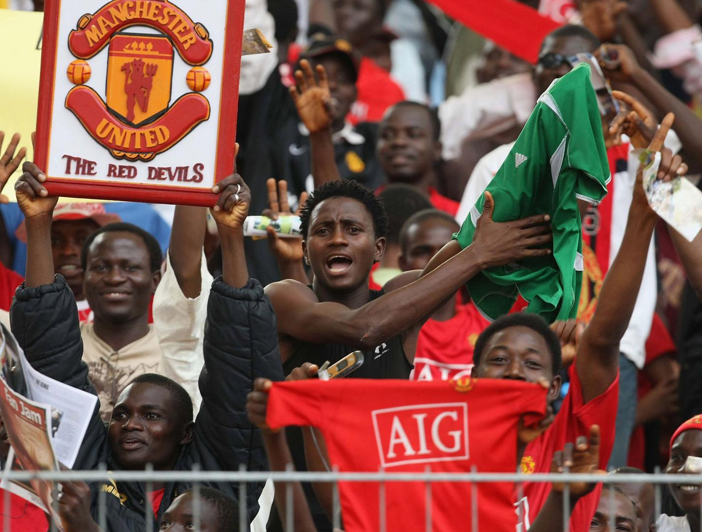 United fans in Nigeria in 2008.
