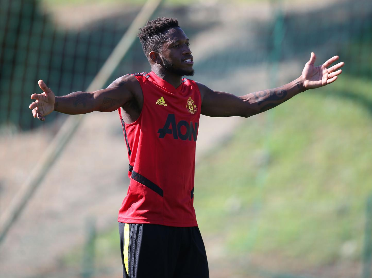 Fred at the training camp in Spain.
