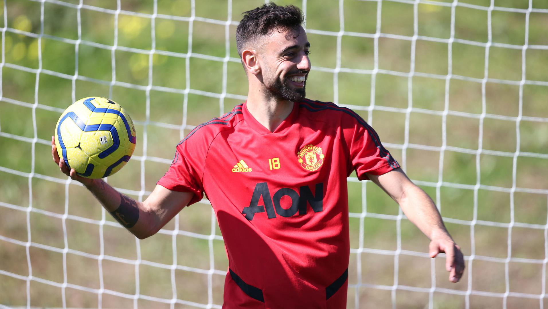 Bruno Fernandes training in Marbella