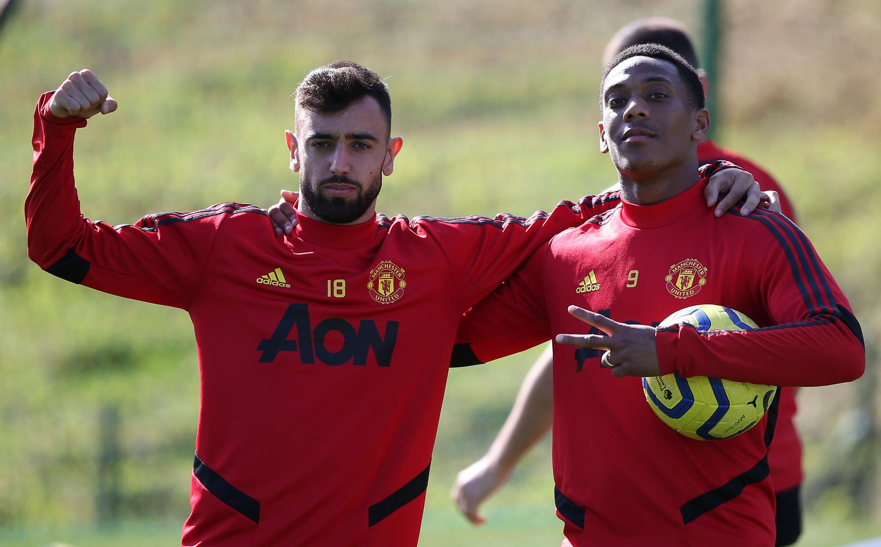 Bruno Fernandes et Anthony Martial