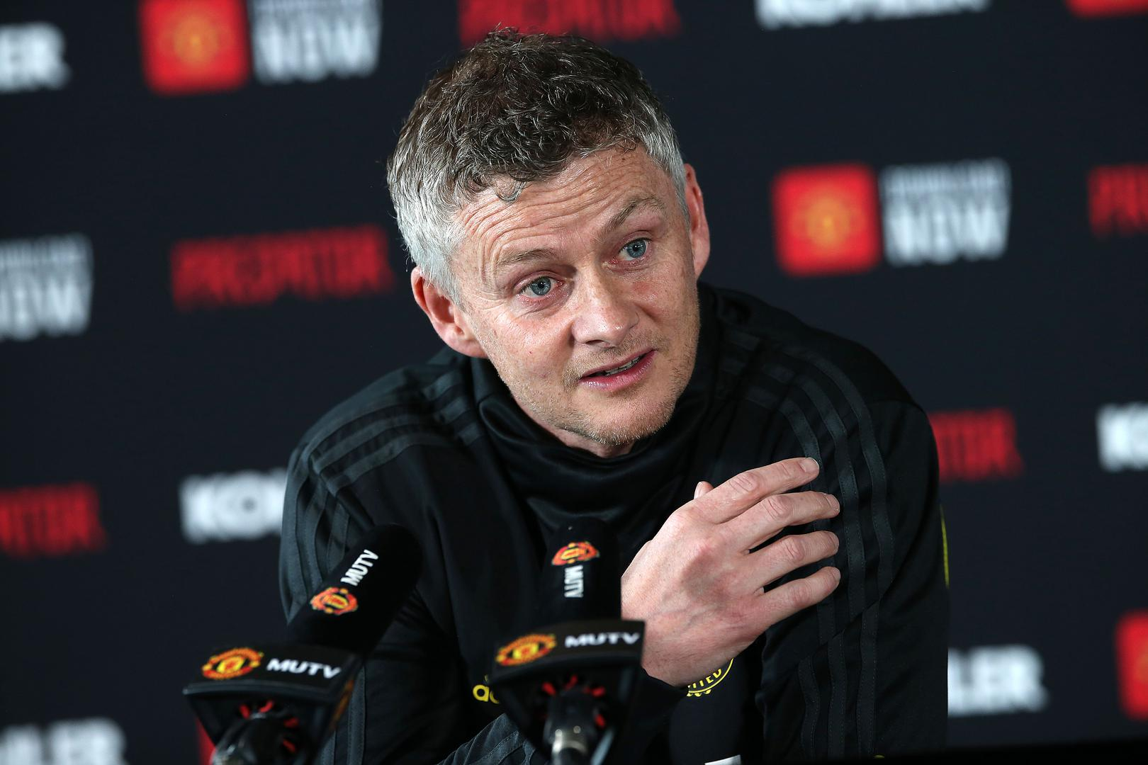 Ole Gunnar Solskjaer speaking as part of his pre-match press conference.