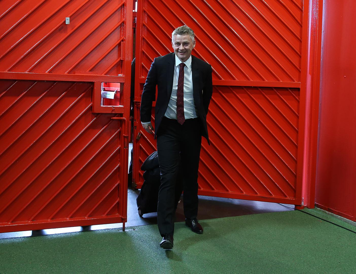 Ole Gunnar Solskjaer arrives at 。。Old Trafford