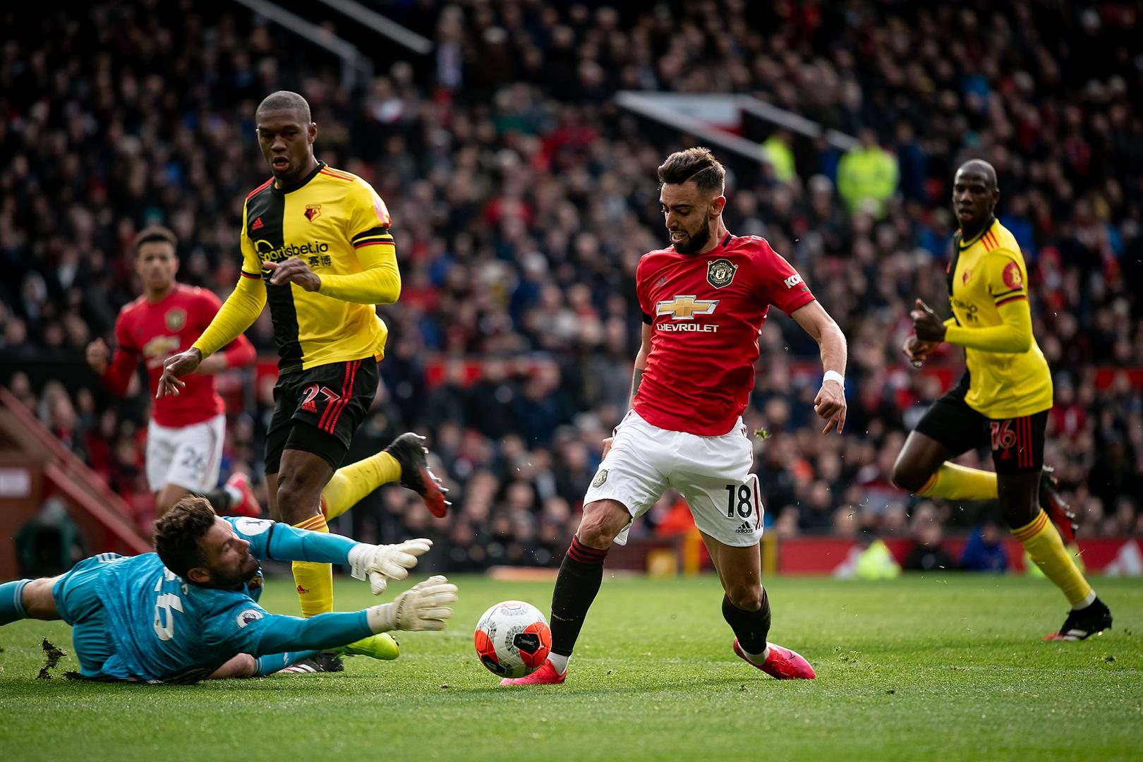 Manchester United Vs Watford English Premier League 23 February 2020 Manchester United Manchester United