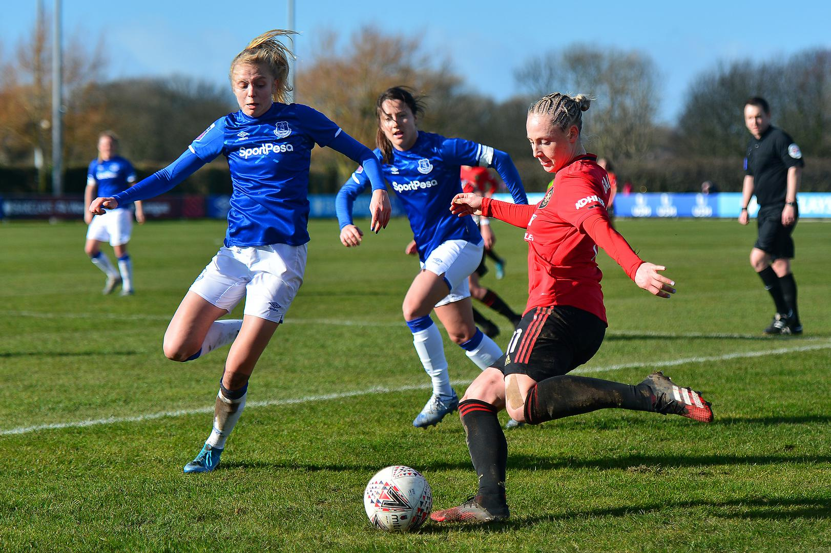 Leah Galton in action against Everton.