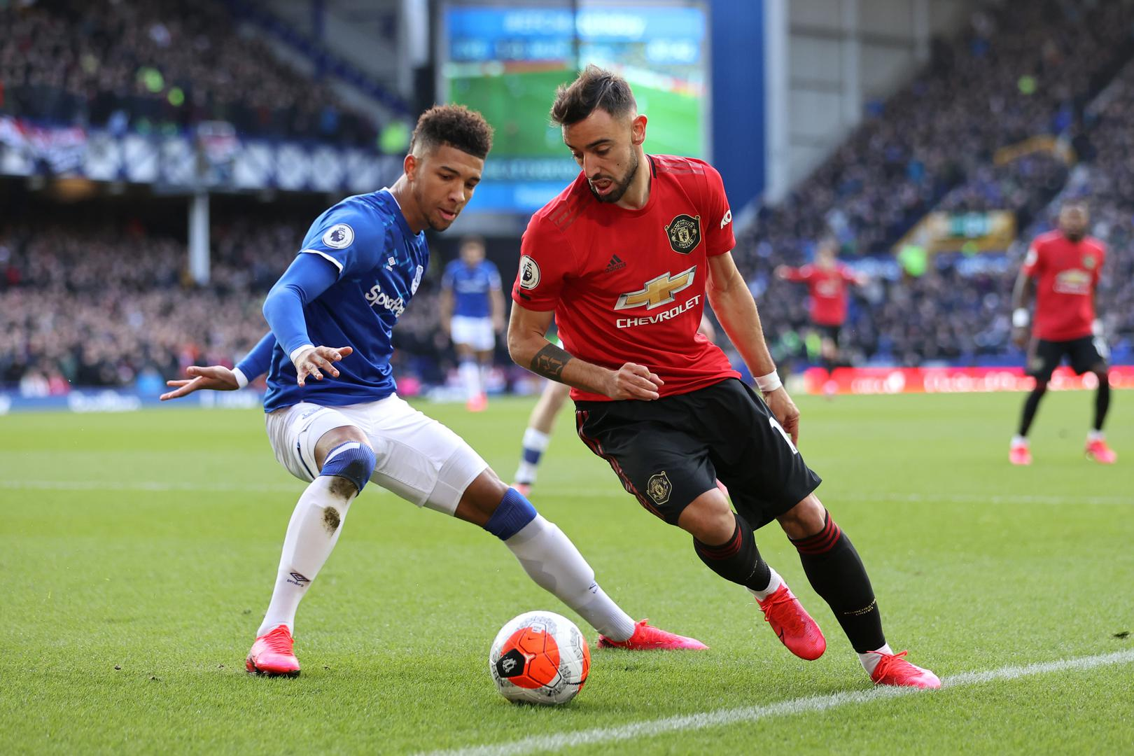 Everton Vs Manchester United English Premier League 01 March 2020 Manchester United Manchester United