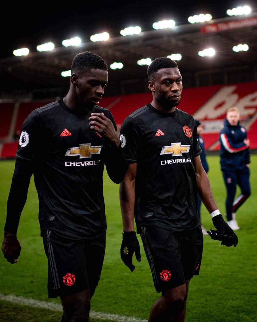 Axel Tuanzebe and Tim Fosu-Mensah.。。