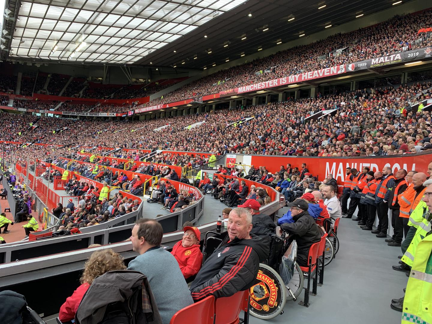 Disabled section at Old Trafford.
