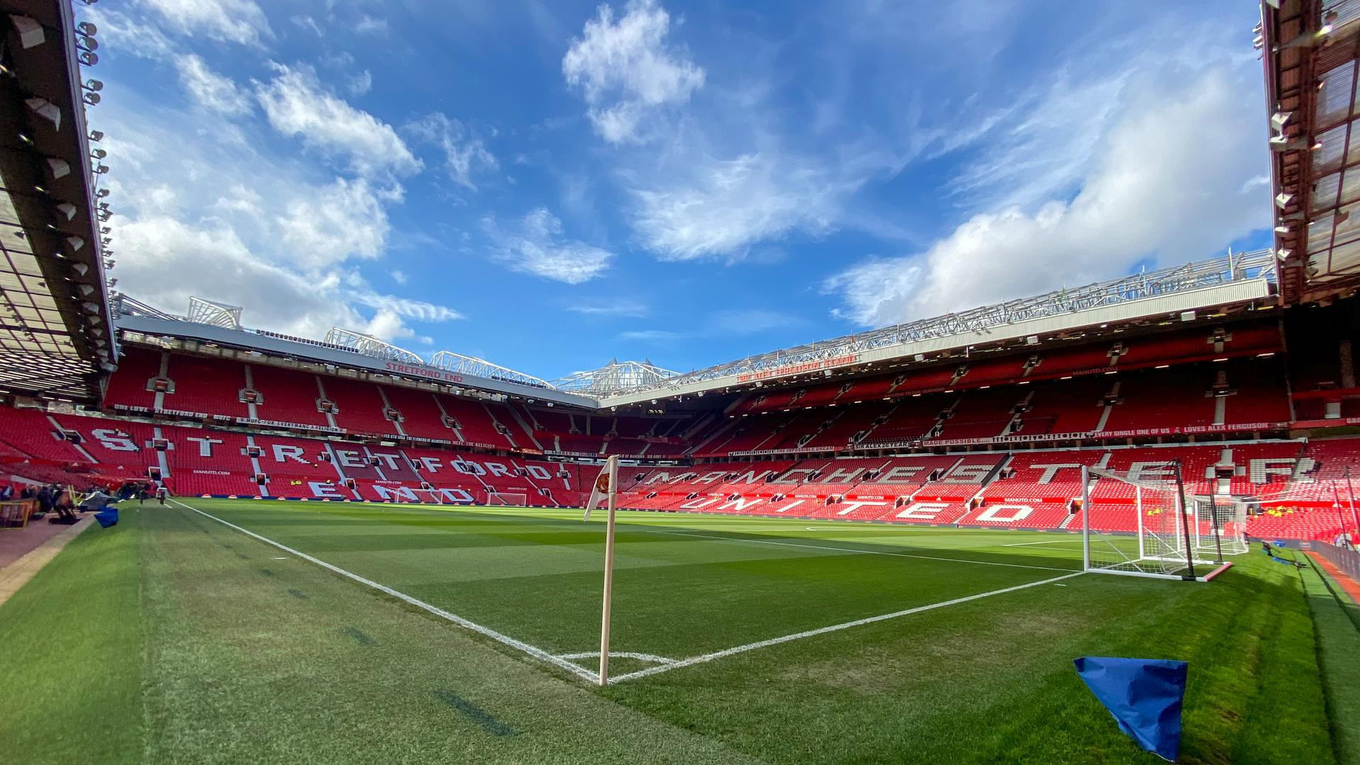 An interior view of Old Trafford.ff