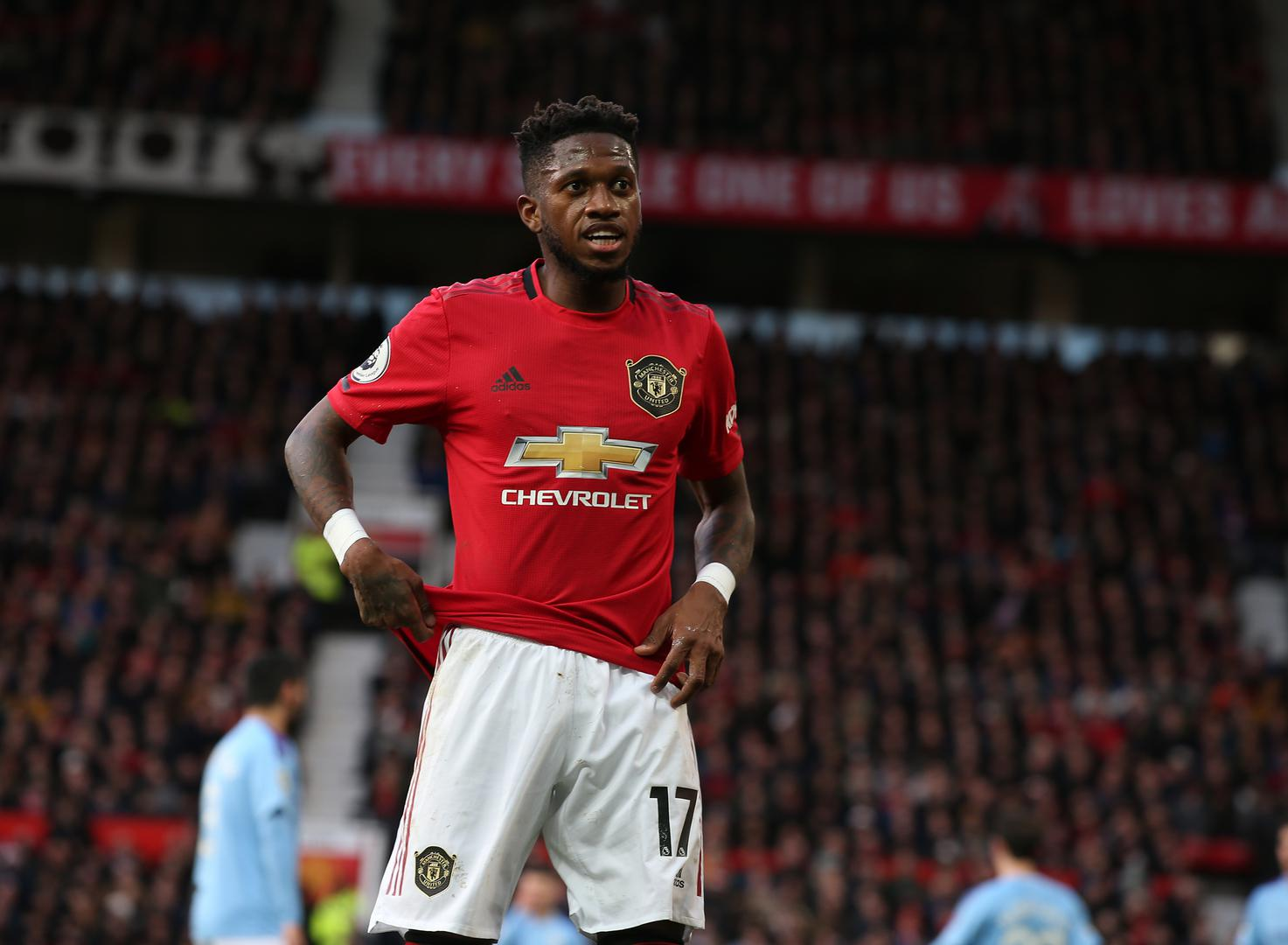 Fred playing for Manchester United..