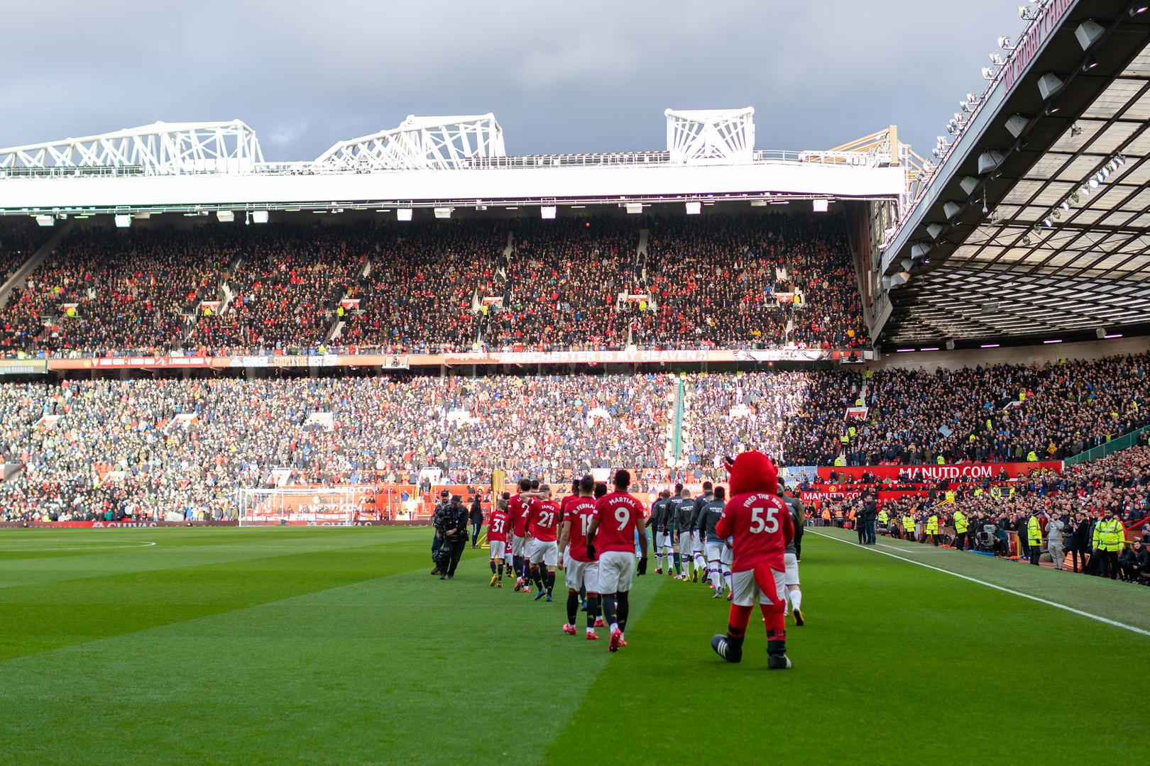 A packed Old Trafford.