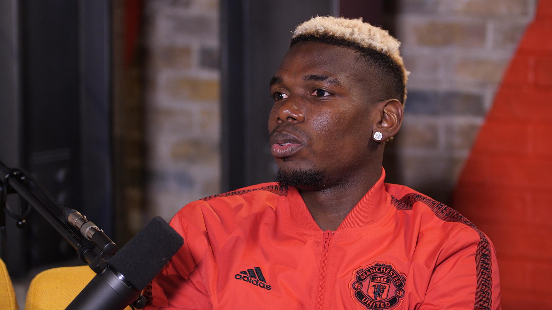 Paul Pogba lors du UTD Podcast