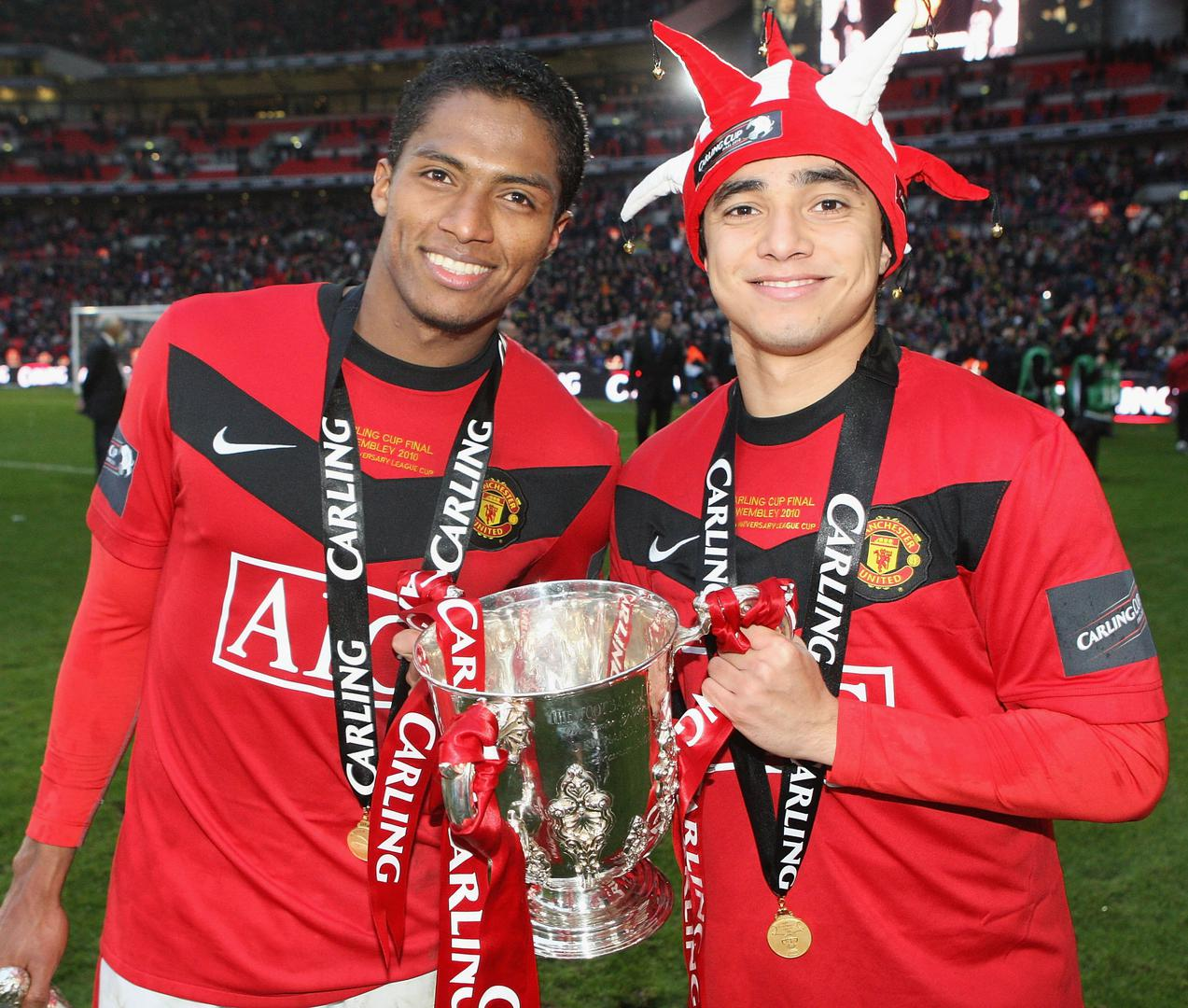 Antonio Valencia and Rafael.