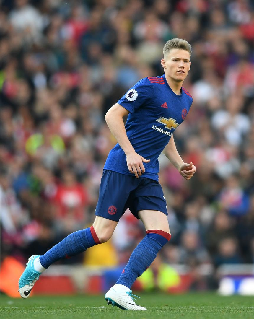 Scott McTominay makes his debut for United on his debut in 2017.,