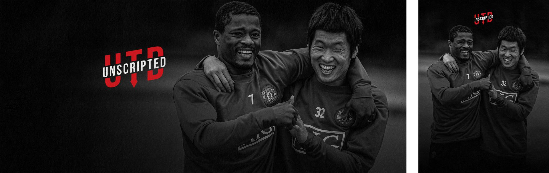 Promotional 。。image for UTD Unscripted featuring Patrice Evra and Ji-sung Park