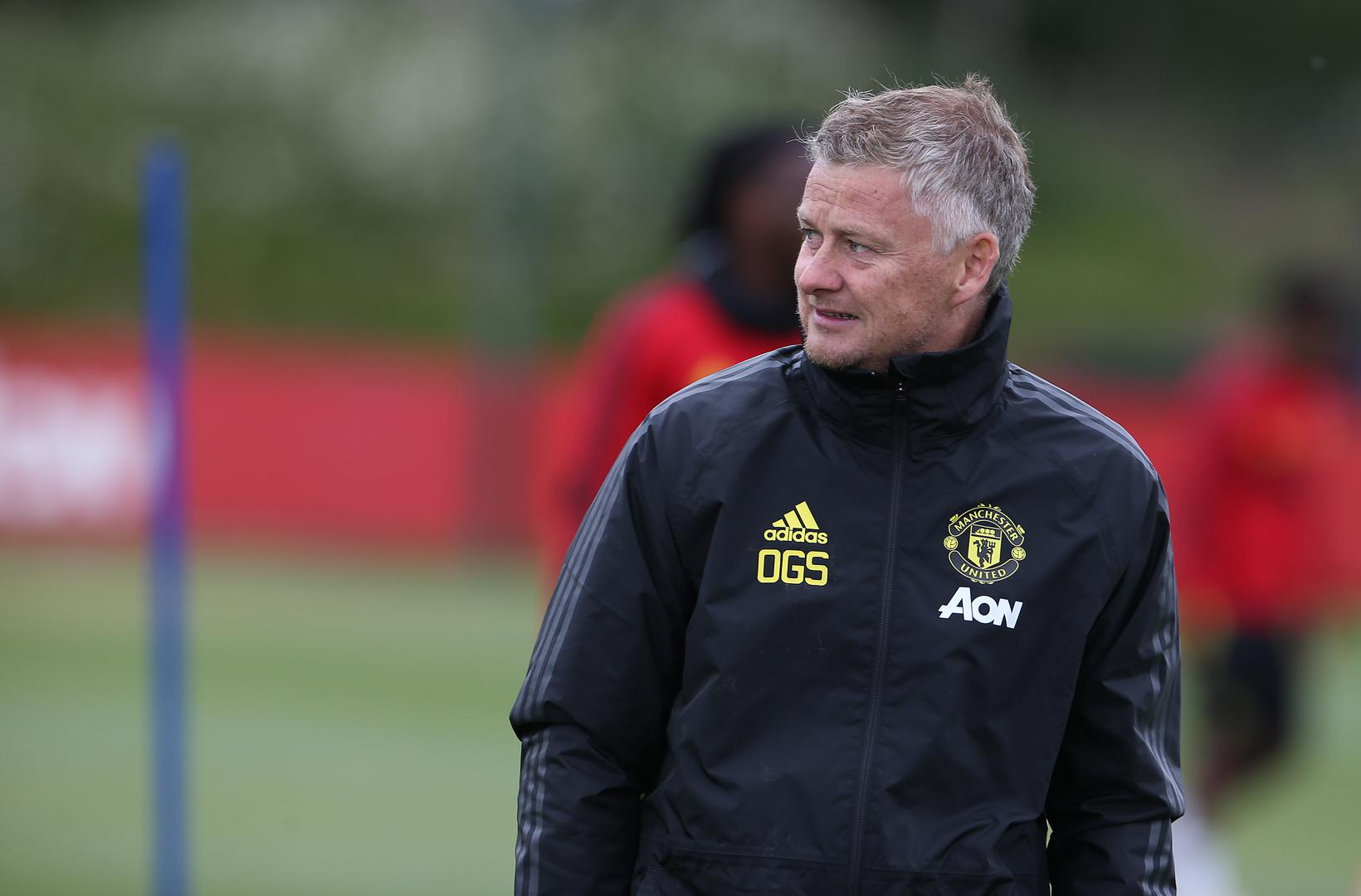 Ole Gunnar Solskjaer in training.
