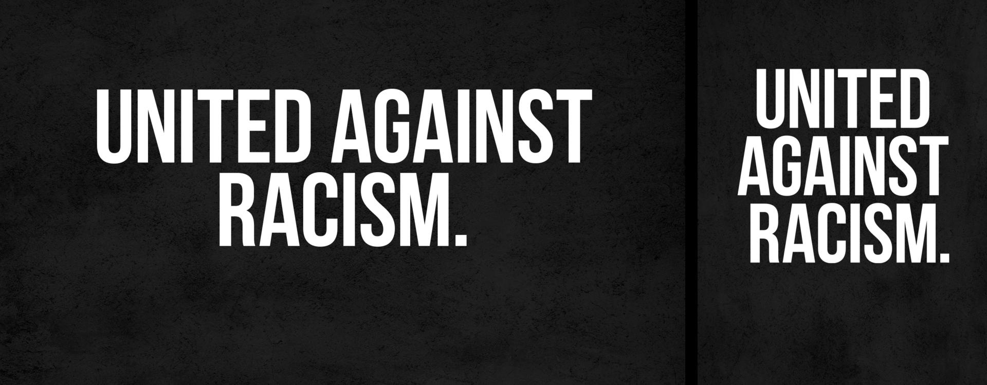 United against racism.
