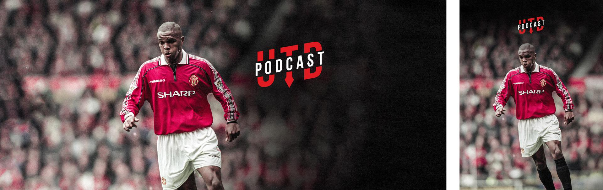 Promotional graphic for the new episode of UTD Podcast featuring Quinton Fortune.