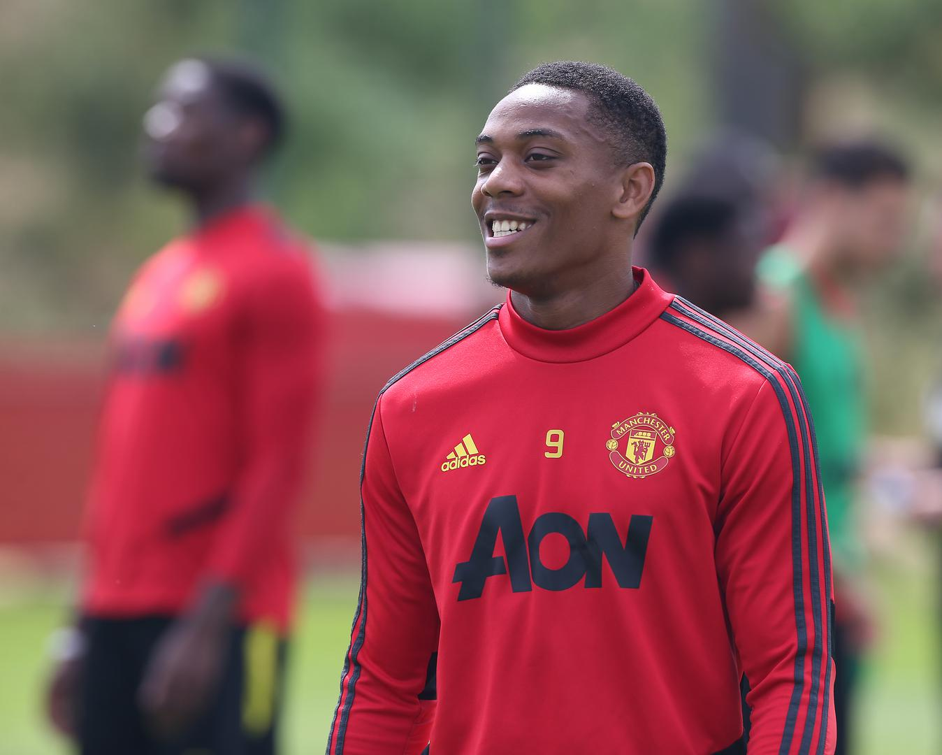 Anthony Martial in a training session