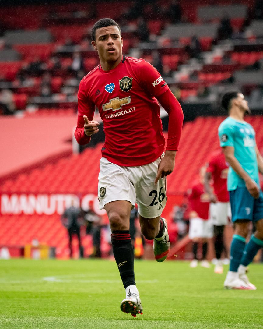 Mason Greenwood scores against Bournemouth