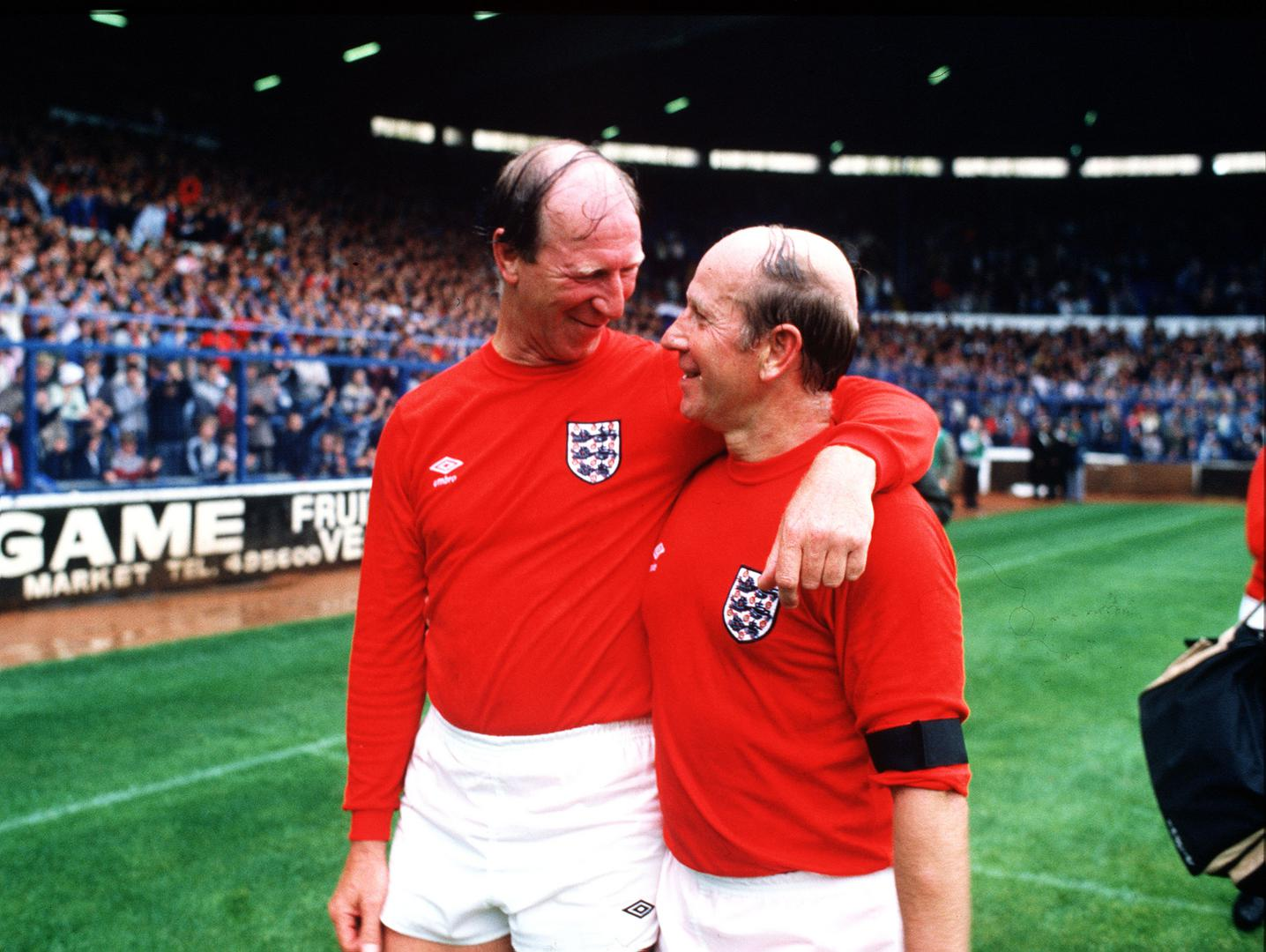 Jack Charlton and Sir Bobby Charlton