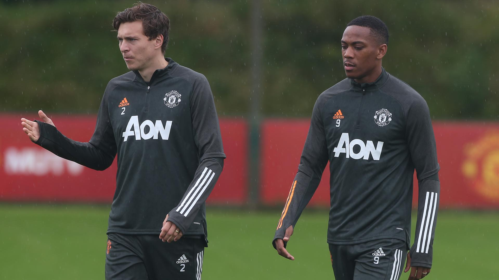 Victor Lindelof and Anthony Martial.
