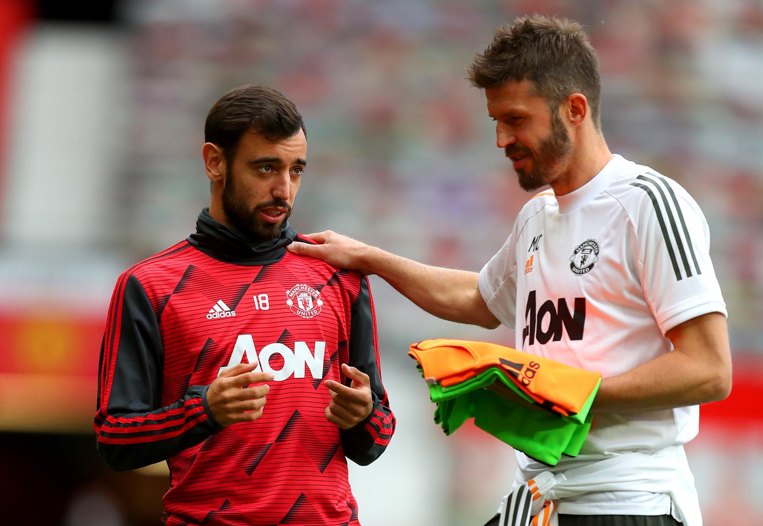 Bruno Fernandes and Michael Carrick.,