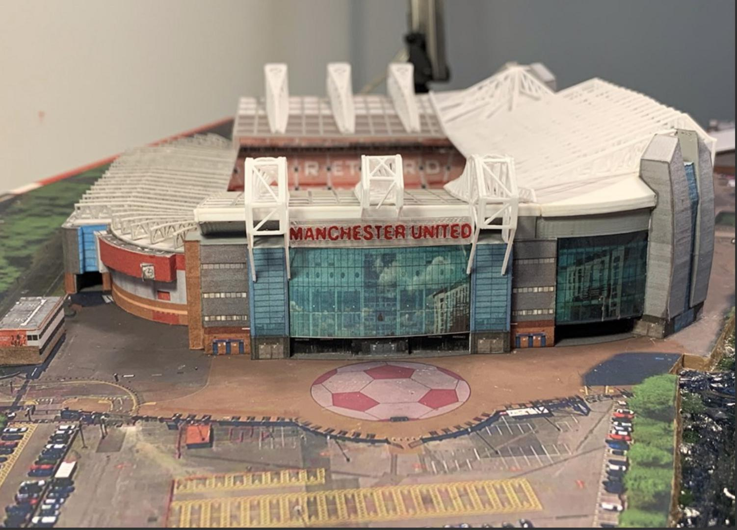 Replica Old Trafford stadium