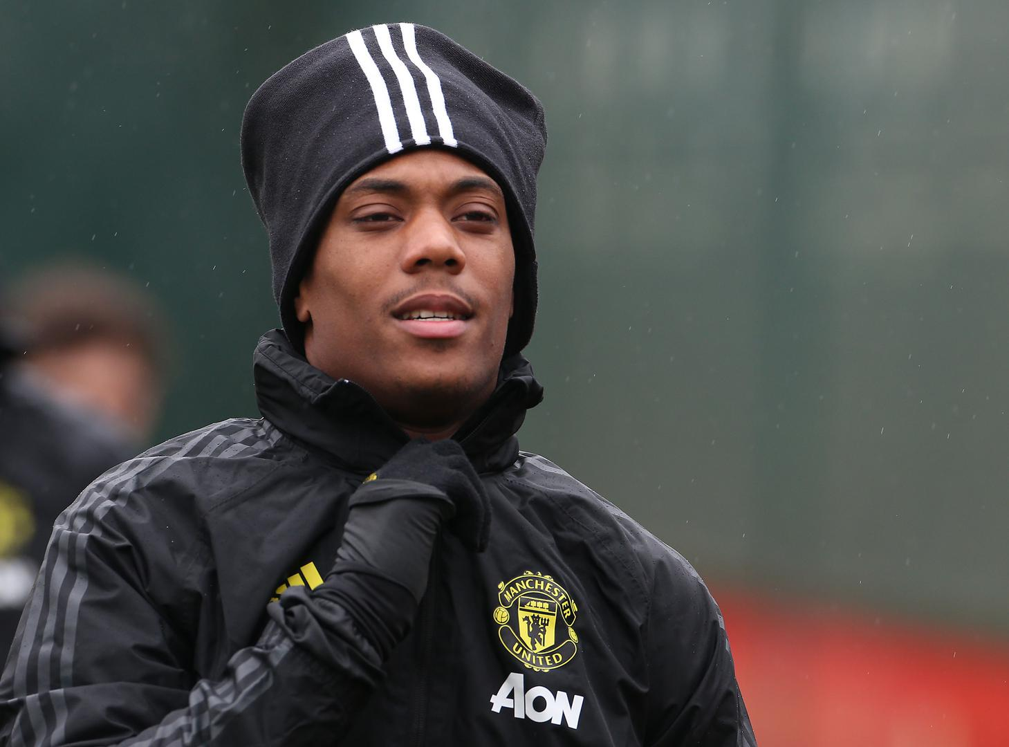 Anthony Martial in Manchester United training