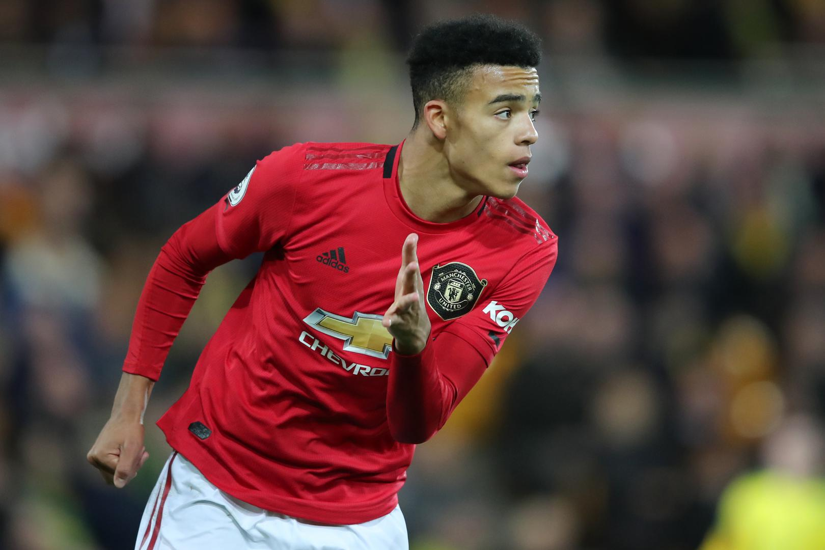 Mason Greenwood at Old Trafford.
