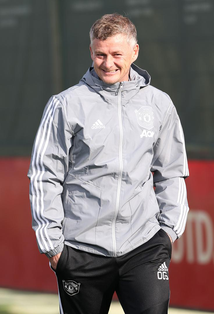 Ole Gunnar Solskjaer at Manchester United training,