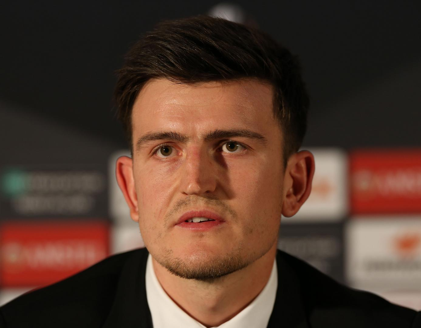 Harry Maguire speaking during the press conference ahead of Manchester United v Partizan Belgrade.