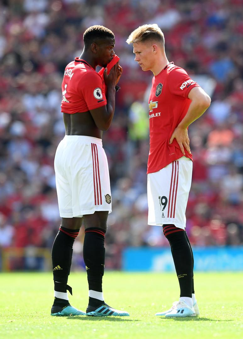 Paul Pogba and Scott McTominay.,