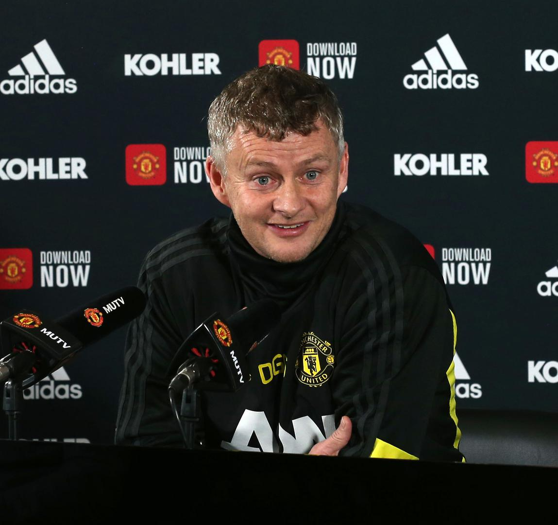 Ole Gunnar Solskjaer during his pre-match press conference ahead of Sheffield United v Manchester United.