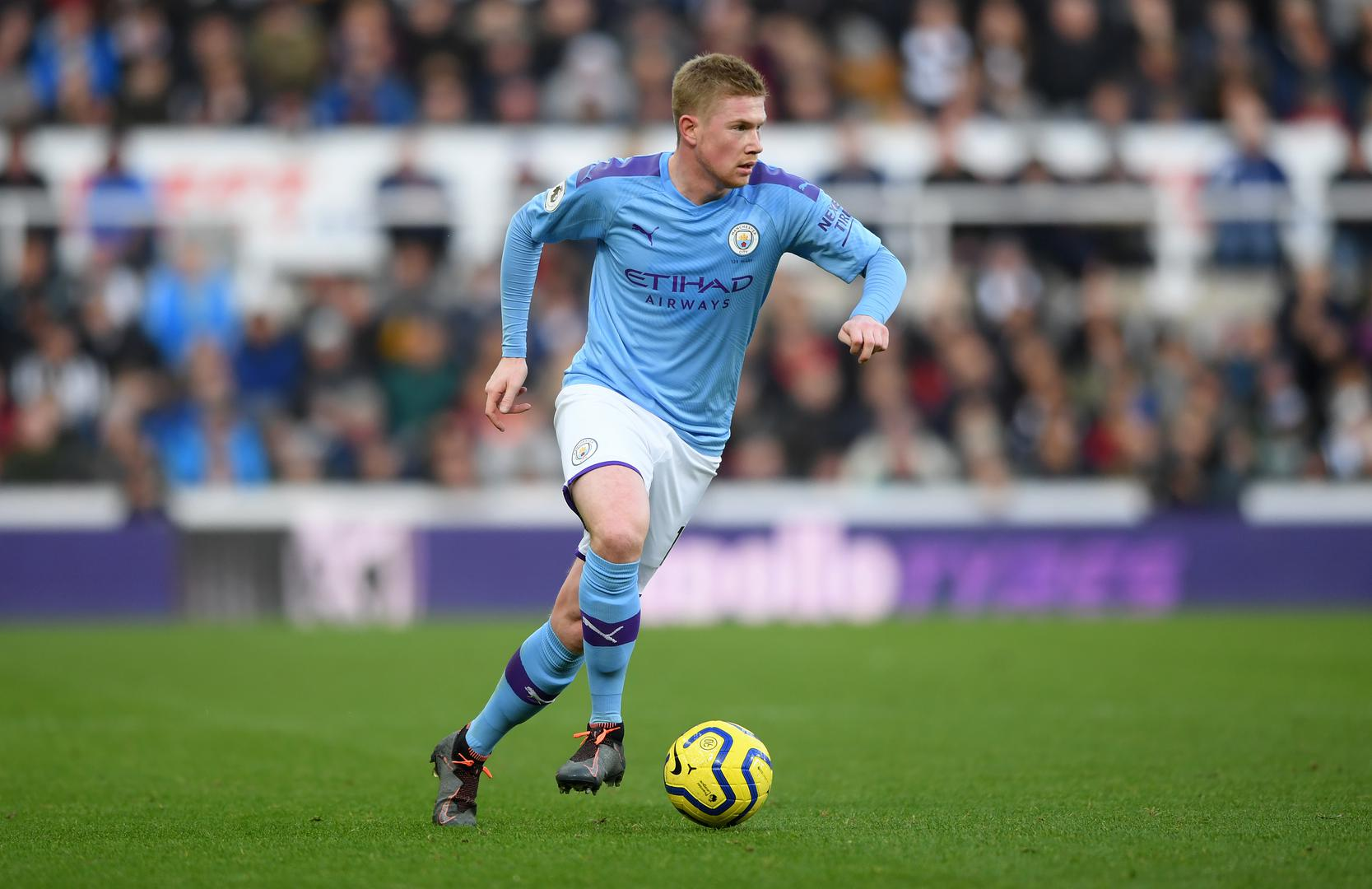 Kevin De Bruyne playing for Manchester City.,