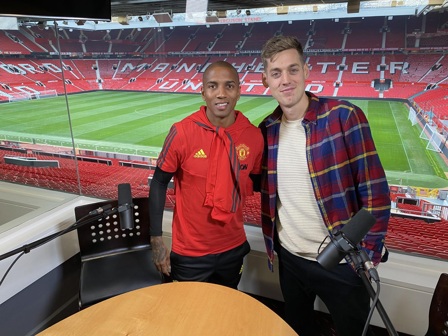 Ashley Young with Sam Homewood