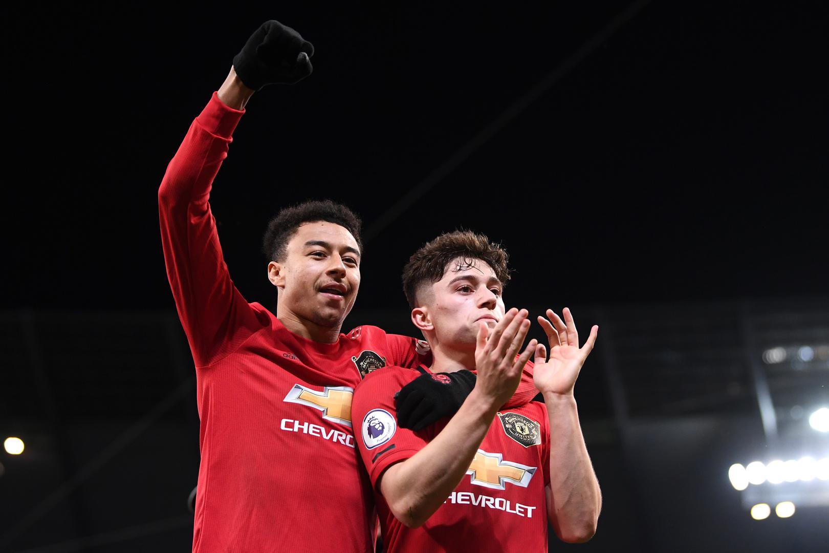 Jesse Lingard and Daniel James.